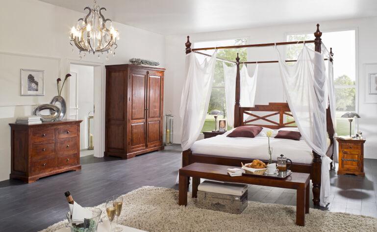 Kolonial Stil Schlafzimmer KOMPLETT : Doppelbet... | markt ...