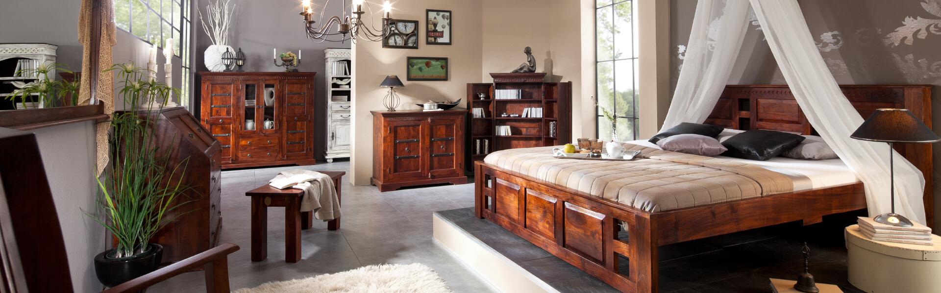Möbel im Kolonialstil | Kolonialmöbel günstig kaufen | Massivmoebel15