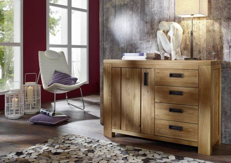 sideboard bozen wildeiche 118x42 5x85 5 cm modern. Black Bedroom Furniture Sets. Home Design Ideas