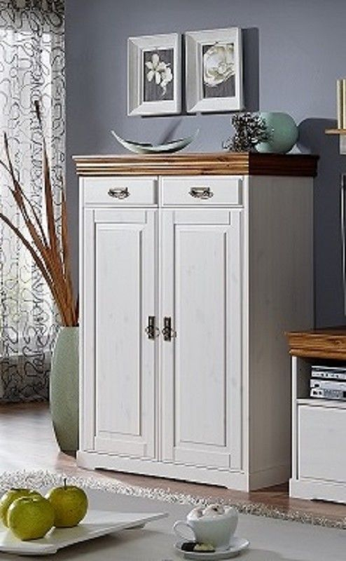 Highboard AVIGNON Kiefer 96x43x133 cm Landhausstil