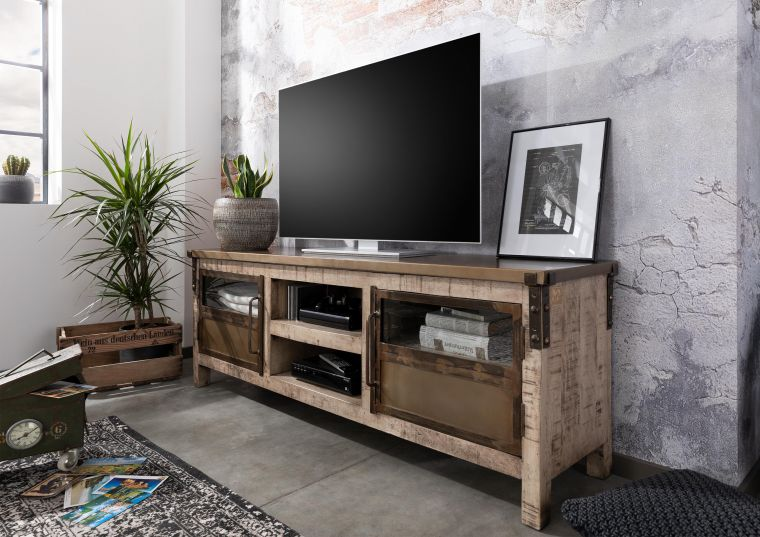 TV-Board Mango 170x40x60 braun lackiert HEAVY INDUSTRY 2136