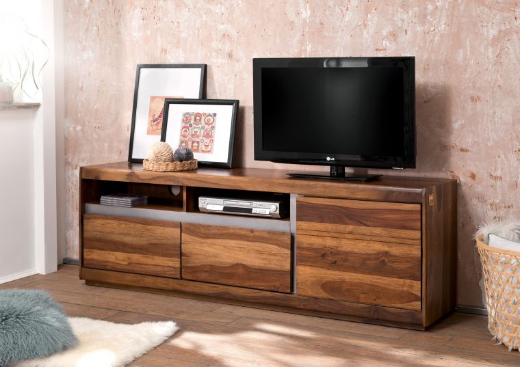 tv board noble unique sheesham palisander 180x40x60 cm modern. Black Bedroom Furniture Sets. Home Design Ideas