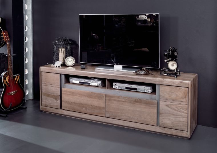 tv board smoked oak sheesham palisander 180x40x60 cm modern. Black Bedroom Furniture Sets. Home Design Ideas