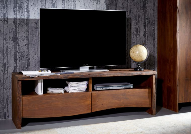 tv board modern aus akazie holz lackiert braun. Black Bedroom Furniture Sets. Home Design Ideas