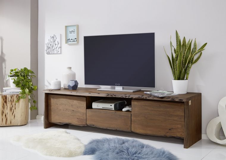 tv board akazie 191x45x50 braun lackiert live edge 802. Black Bedroom Furniture Sets. Home Design Ideas