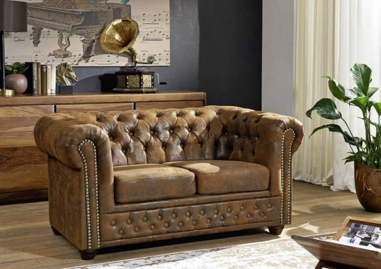 Sofa Chesterfield 148x86x72 braun OXFORD