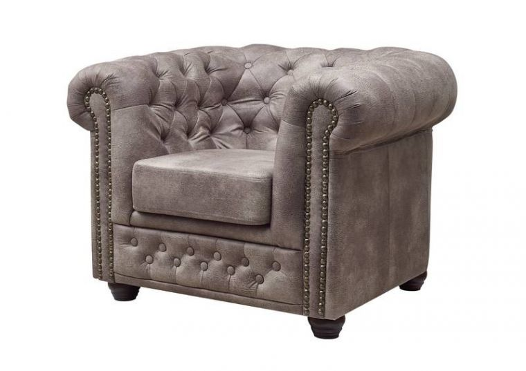 york sessel chesterfield antik look vintage silber. Black Bedroom Furniture Sets. Home Design Ideas