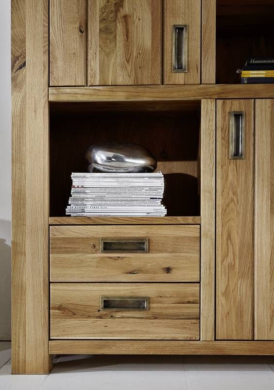 highboard bozen wildeiche 115x42x148 cm modern. Black Bedroom Furniture Sets. Home Design Ideas