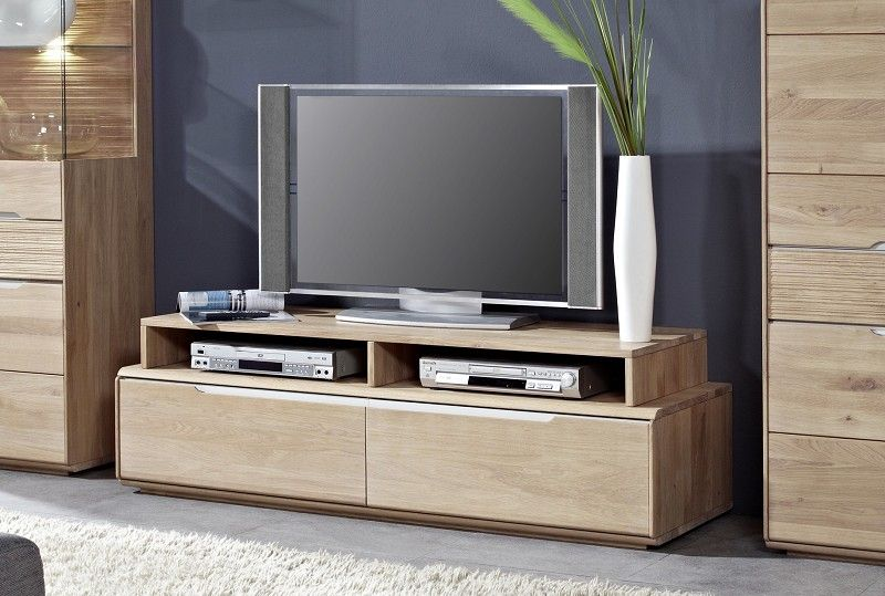 massivholz tv board wildeiche oslo 152 ebay. Black Bedroom Furniture Sets. Home Design Ideas