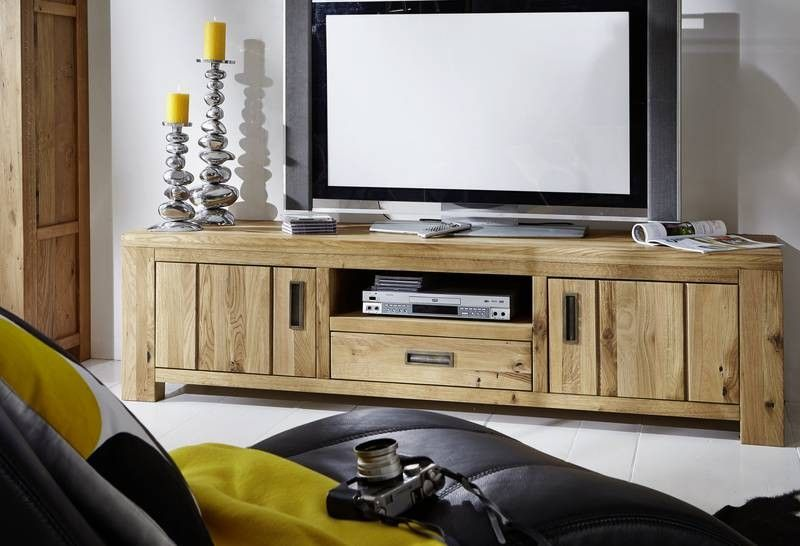 tv board bozen wildeiche 190x52x50 cm modern. Black Bedroom Furniture Sets. Home Design Ideas
