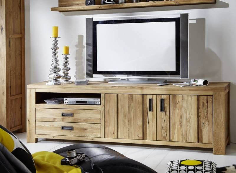 tv board bozen wildeiche 220x52x65 cm modern. Black Bedroom Furniture Sets. Home Design Ideas