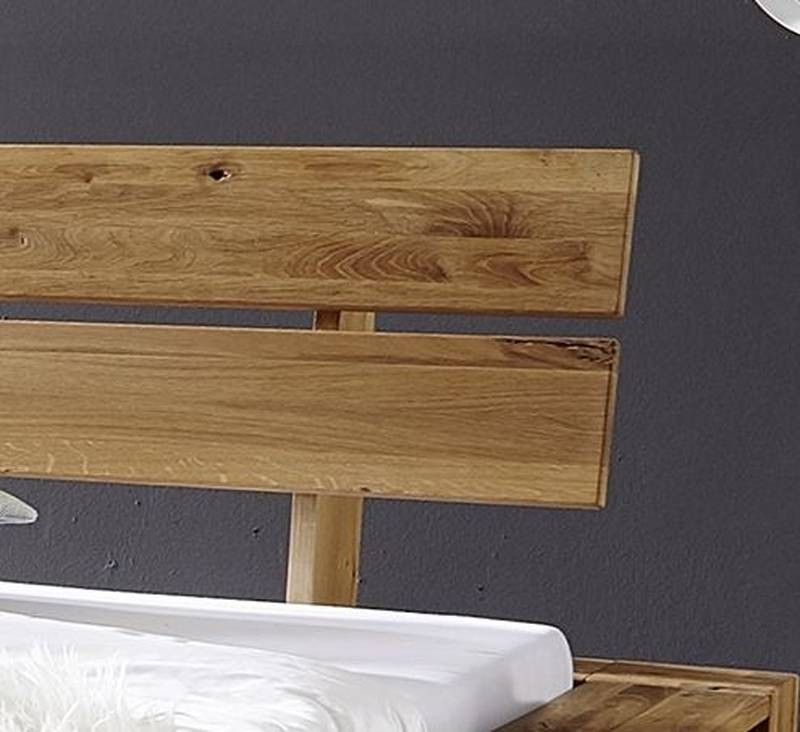 bett wildeiche mit risse 160x200 natur ge lt leon. Black Bedroom Furniture Sets. Home Design Ideas