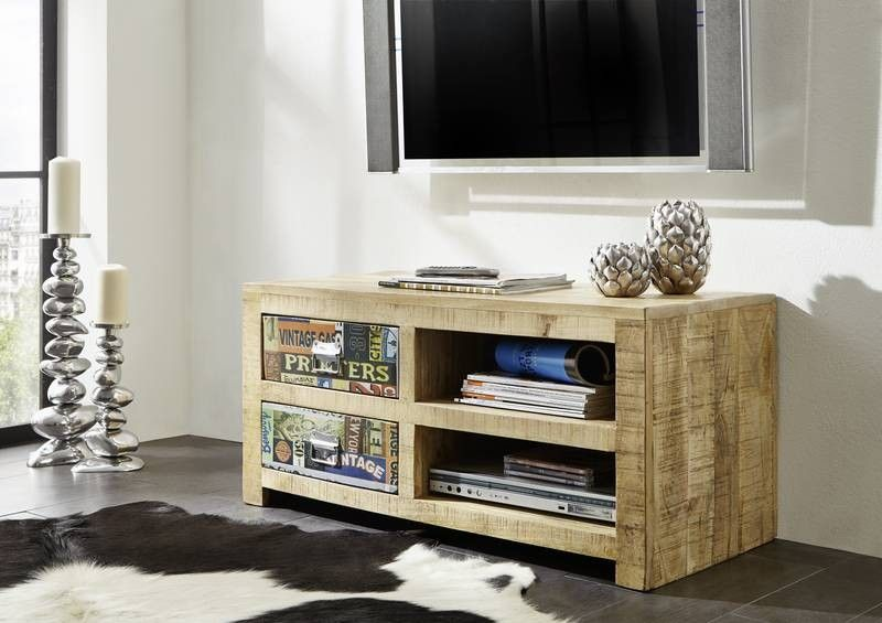 massivholz tv board mango vintage detroit 50. Black Bedroom Furniture Sets. Home Design Ideas
