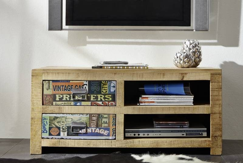 tv board detroit mango 100x45x45 cm vintage. Black Bedroom Furniture Sets. Home Design Ideas