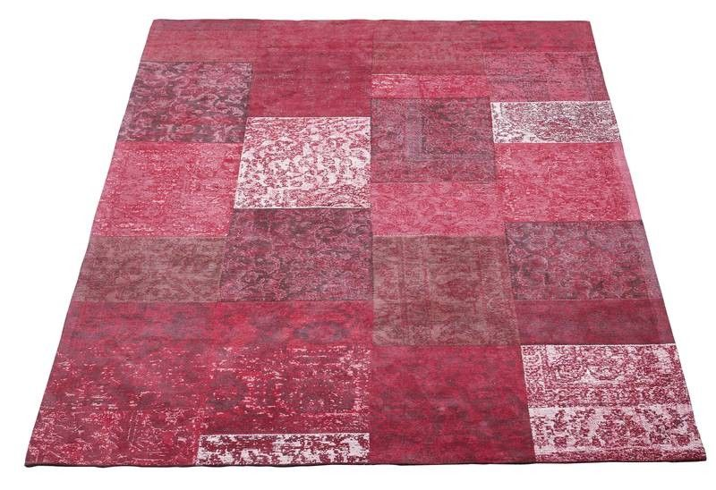 teppich 300x200 100 baumwolle chenille rot new tile ebay. Black Bedroom Furniture Sets. Home Design Ideas