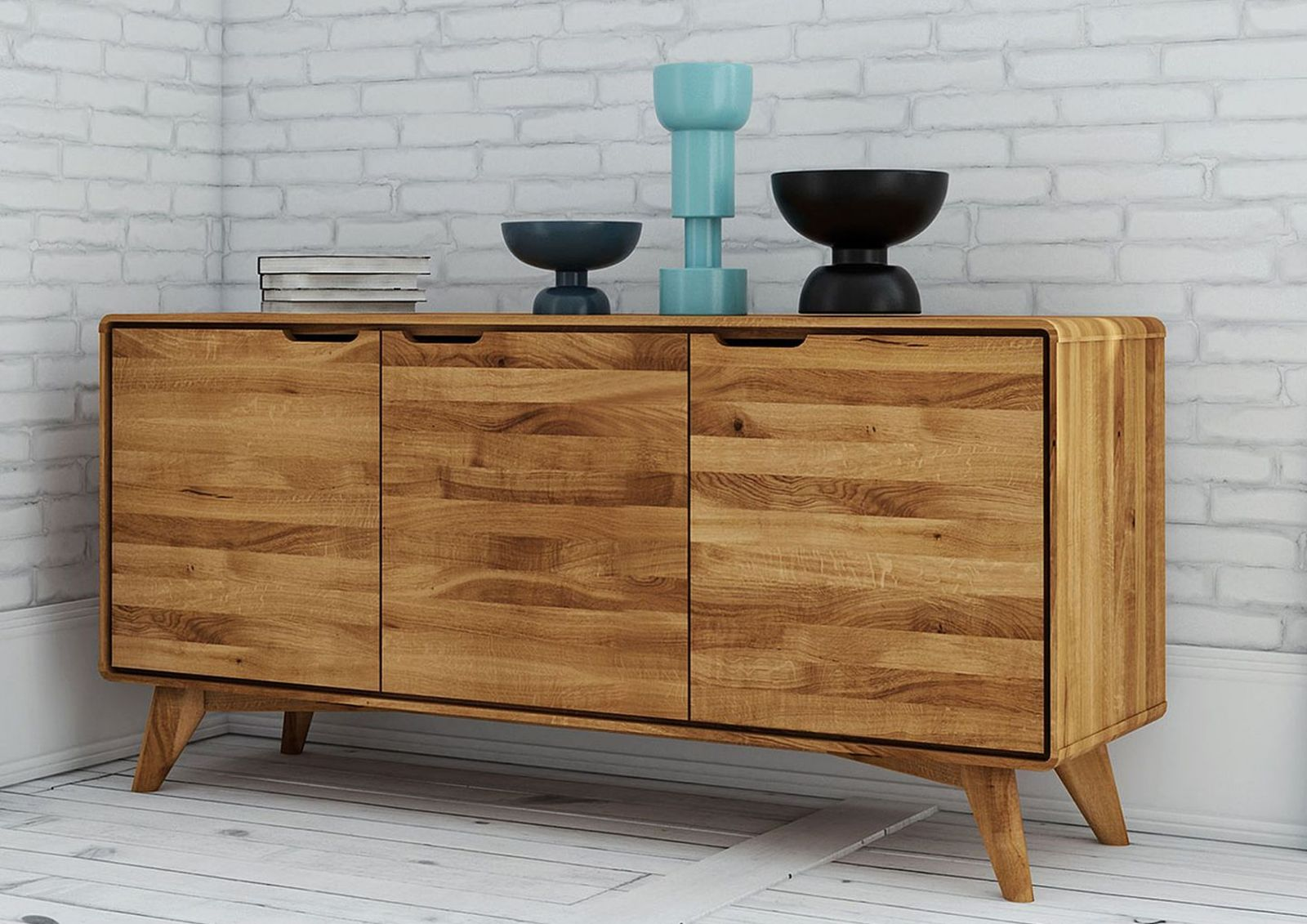 Sideboard Aus Wildeiche Natur Ge 246 Lt Sixty Style Malm 214