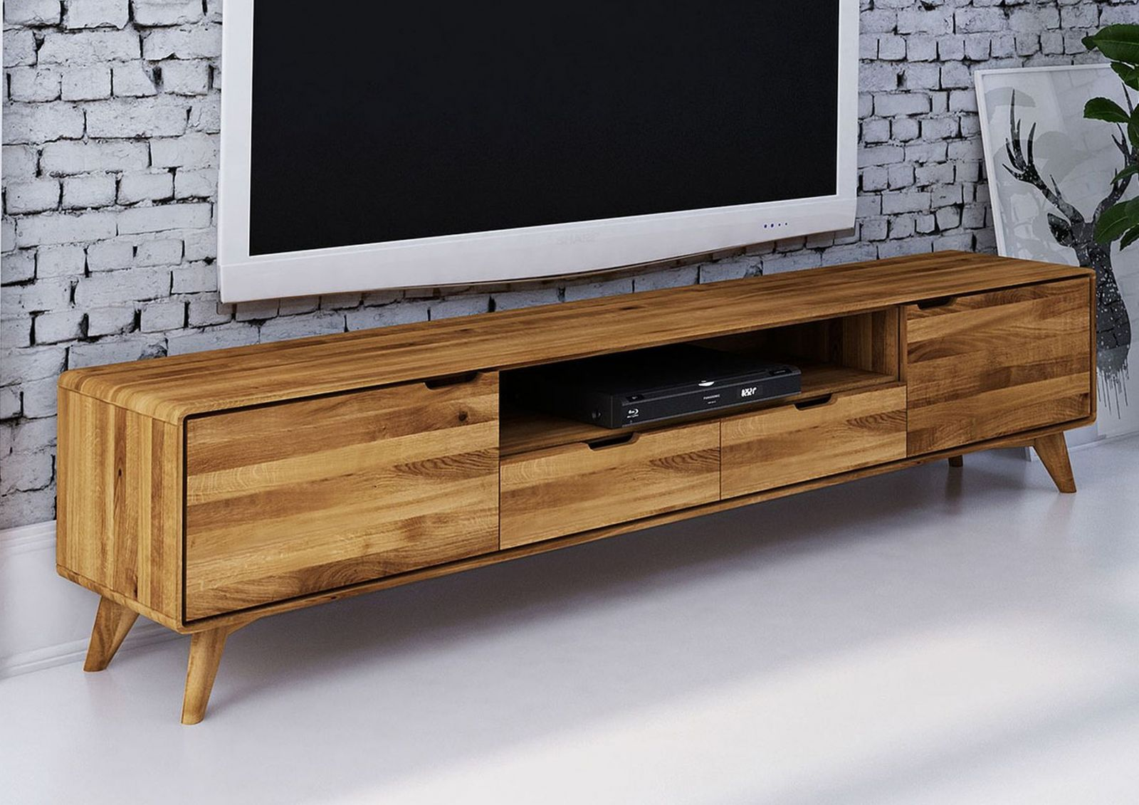 fernsehtisch tv board wildeiche 220x40x48 malm. Black Bedroom Furniture Sets. Home Design Ideas