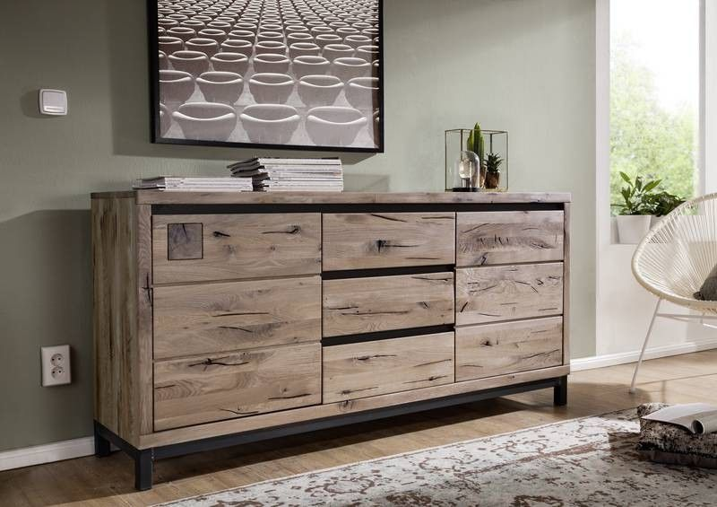 villanders sideboard 209 wildeiche massiv ge lt. Black Bedroom Furniture Sets. Home Design Ideas