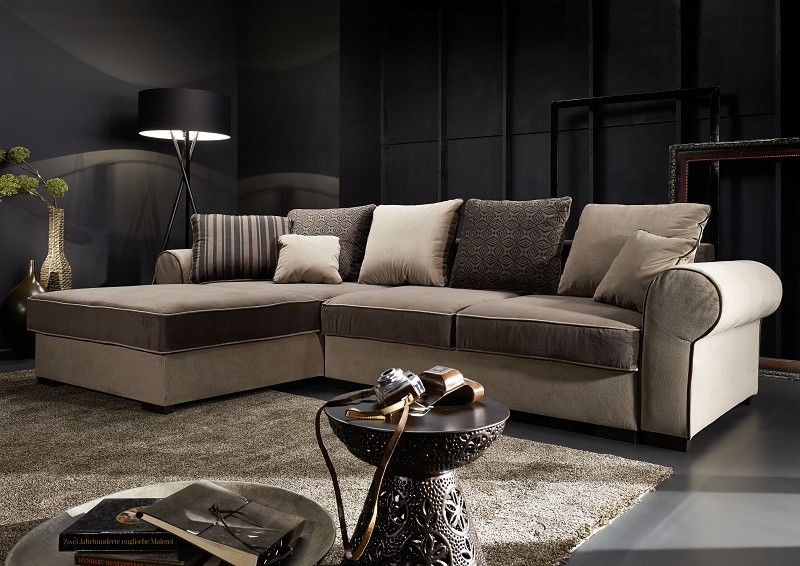 ecksofa deluxe comfort wohnlandschaft eckcouch schlaffunktion bettkasten couch ebay. Black Bedroom Furniture Sets. Home Design Ideas