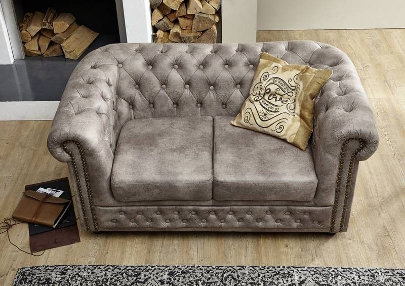 oxford sofa chesterfield antik look vintage silber. Black Bedroom Furniture Sets. Home Design Ideas