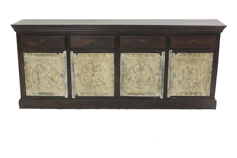 Sideboard Altholz 206x42x85 mehrfarbig lackiert SPECIAL #25