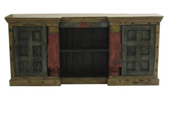 Sideboard Altholz 210x42x96 mehrfarbig lackiert SPECIAL #23