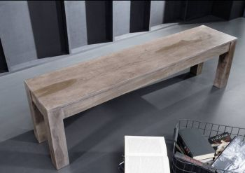 Bank Sheesham 200x35x45 smoked oak lackiert SYDNEY #231
