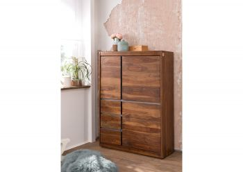 Highboard Sheesham 102x40x147 noble unique lackiert SYDNEY #102