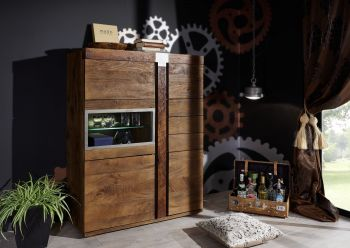 Highboard Mango 110x45x142 lackiert AMSTERDAM #05