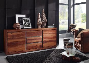 Sideboard Sheesham 187x46x77 noble unique lackiert SYDNEY #107