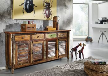 Sideboard Altholz 183x42x90 mehrfarbig lackiert FABLE #17