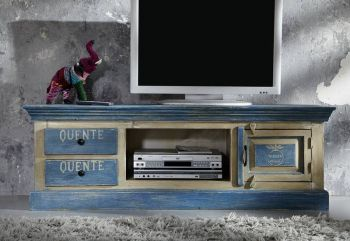 TV-Board Altholz 145x45x50 mehrfarbig lackiert PAINTED #106