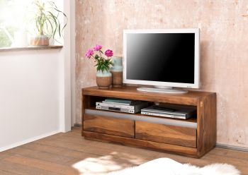 TV-Board Sheesham 120x40x50 noble unique lackiert SYDNEY #114