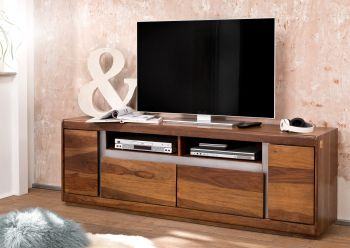 TV-Board Sheesham 180x40x60 noble unique lackiert SYDNEY #143