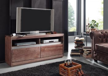TV-Board Sheesham 133x40x60 smoked oak lackiert SYDNEY #241