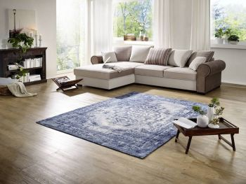 Teppich 240x170x blau NEW BOSTON