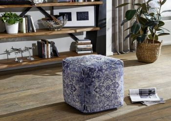 Hocker 45x45x45 blau LINCOLN TWO