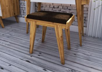 Hocker Wildeiche 51x35x53 natur geölt ORIGINAL RETRO #21