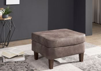 Hocker Chesterfield 56x67x46 dunkelbraun OXFORD