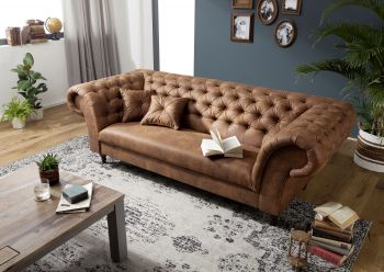Sofa 234x92x82 cognac PRESTON