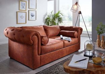 Sofa 187x115x77 cognac WINDSOR #107