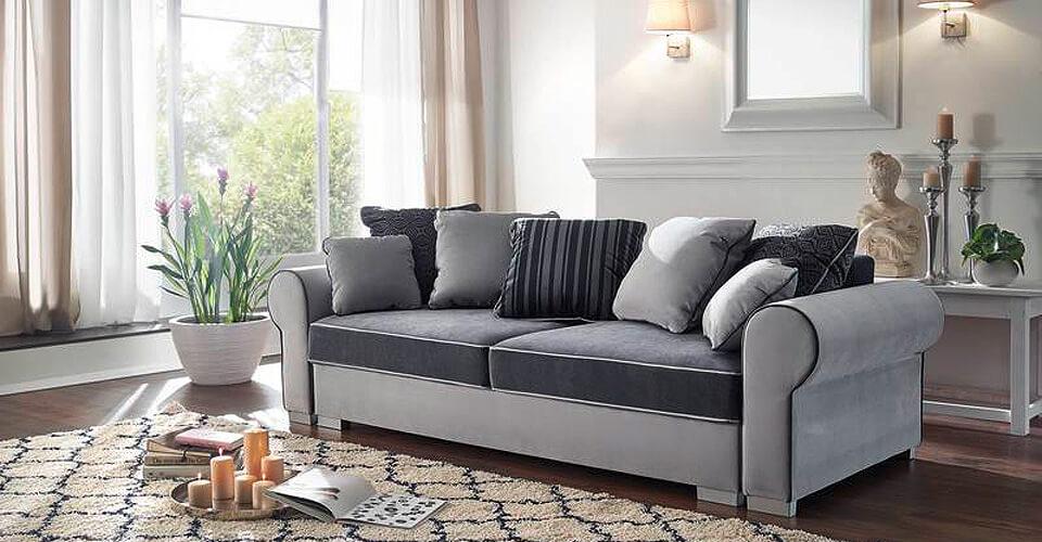 cabo sofa ecksofa vintage antik optik beige. Black Bedroom Furniture Sets. Home Design Ideas